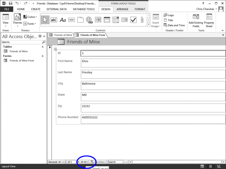 how to create a blank report in access 2016