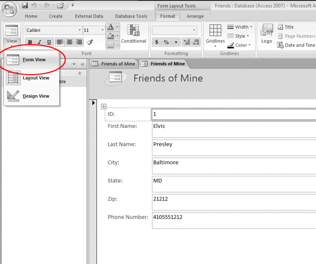 how to create a startup form in access 2007