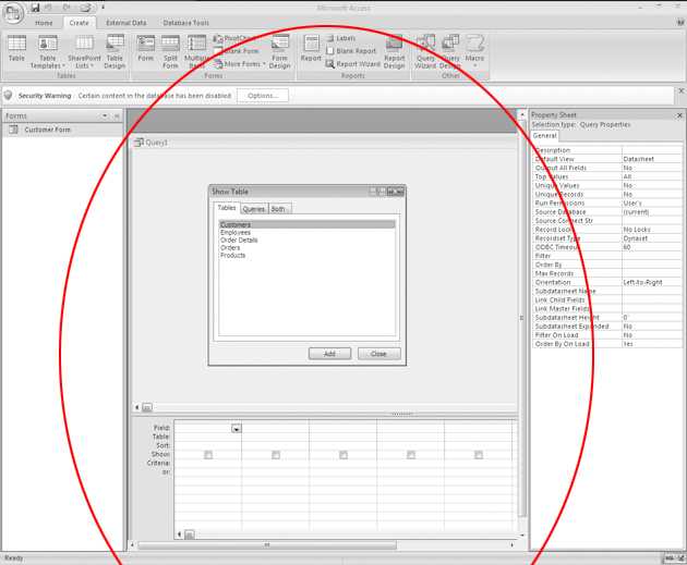 how to create a query in access 2007 with criteria