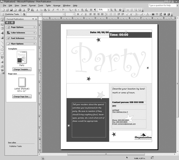 how to create a magazine in publisher 2007