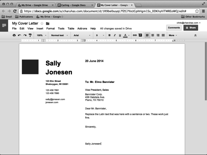 Cover Letter Format Google Doc from inpics.net