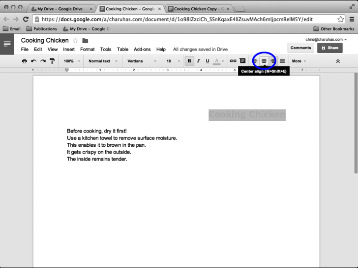 Google Docs In Pictures