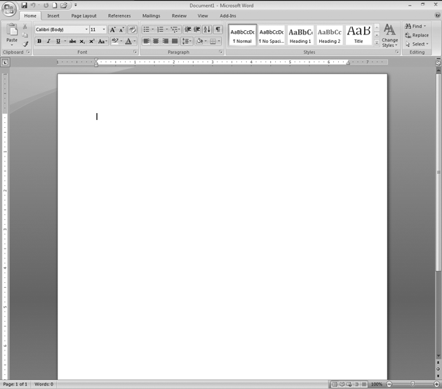 Word 2007 In Pictures: Create a new document